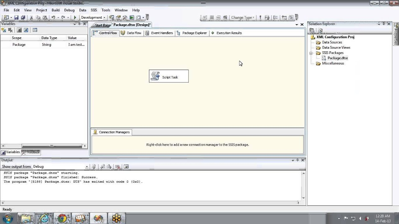 How to use XML Configuration file in SSIS