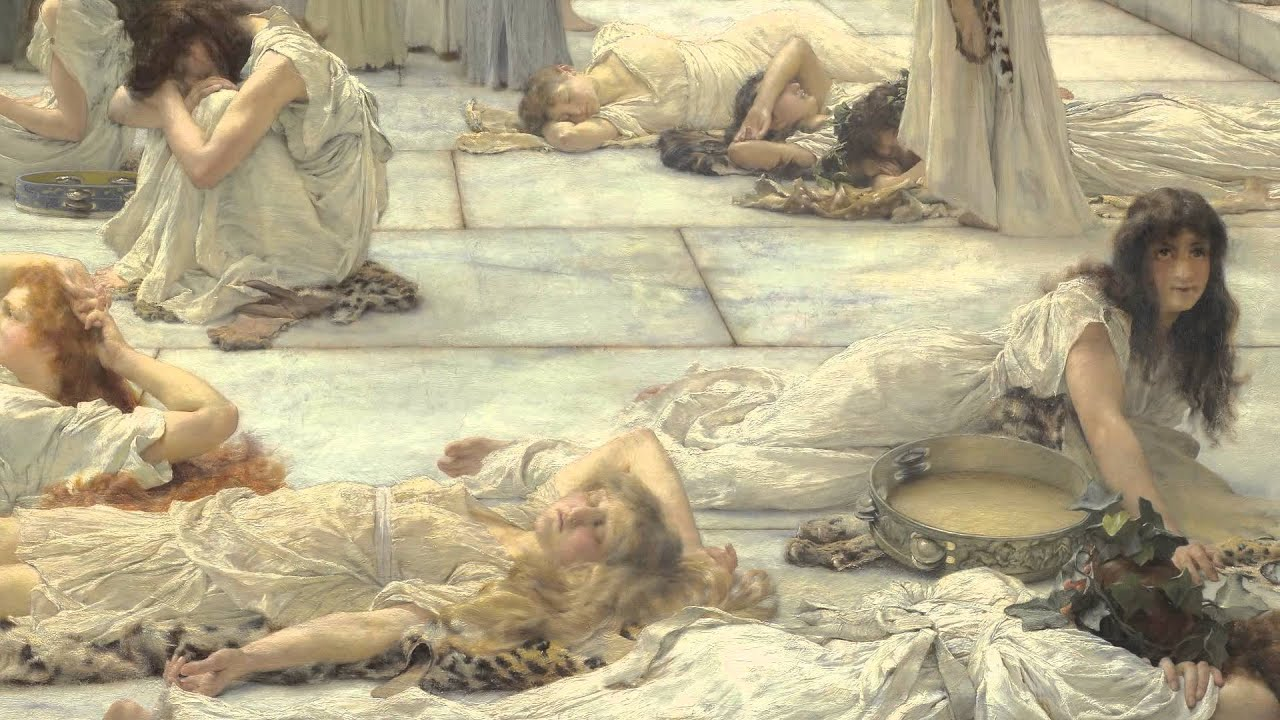Talking About The Women Of Amphissa By Sir Lawrence Alma