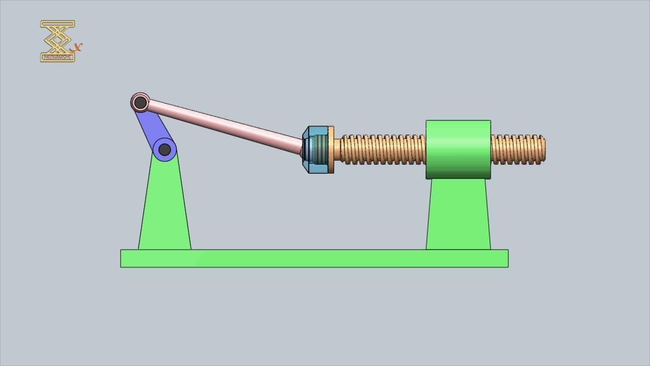 Mechanism Wheel Lever : Four link lever screw mechanism youtube