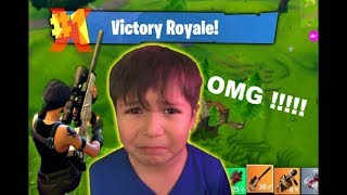 KID RAGES AFTER ALMOST GETTING FIRST BATTLE ROYALE WIN!!!| FORTNITE PLAYGROUNDS IS BACK!