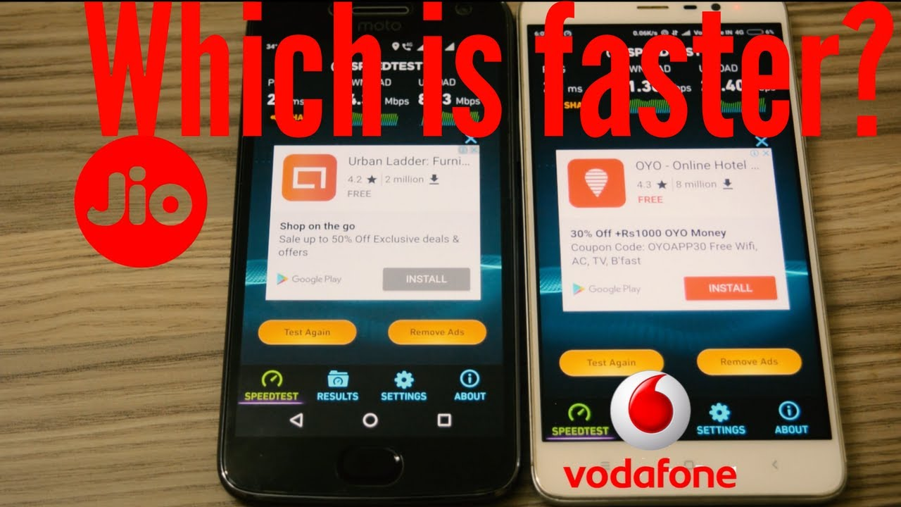 Jio vs Vodafone 4G Speed Test | Surprising Results
