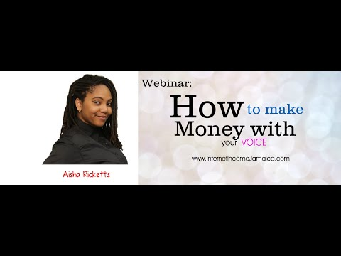 How To Make Money with your Voice: (876) 630-1497