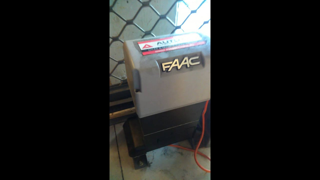 Garage door motor override key FAAC motor - YouTube