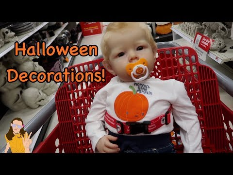 Halloween Decoration Shopping with Reborn Toddler Max! | Kelli Maple