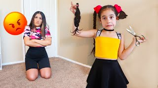 Suri Cut Her Own Hair off AGAIN...*Shocking* | Jancy Family