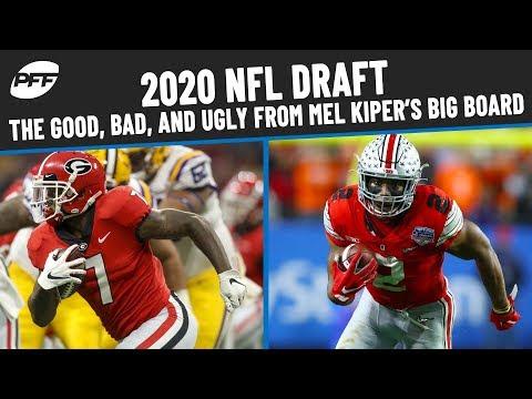 2020 NFL Draft: The Good, Bad, and Ugly From Mel Kiper Jr.'s Big Board | PFF