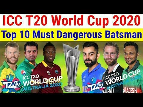 Top 10 Must Dangerous Batsman In T20 World Cup 2020 \ Jalil Sports