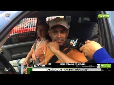 Venezuela. Así están las colas para surtir gasolina en Caracas - VPItv
