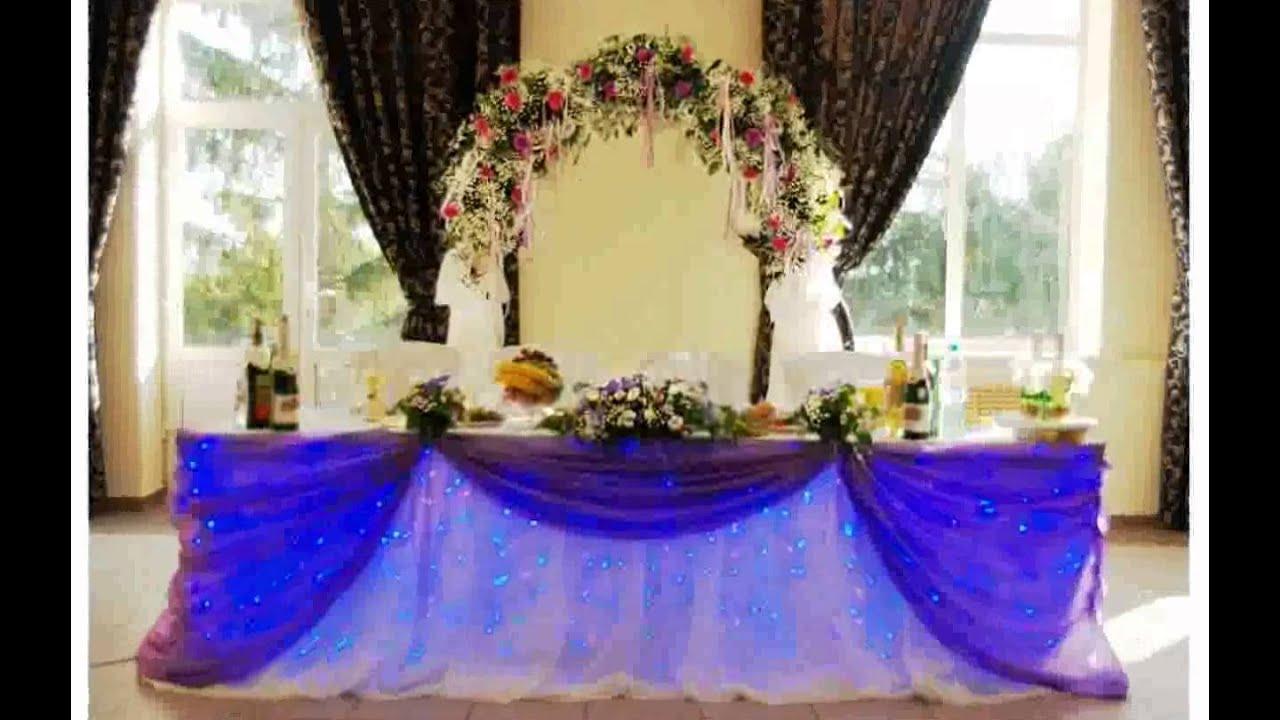Украшение зала на свадьбе