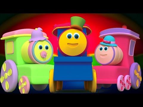 Боб Поезда Палец Семья | детский стишок | Babies Music | Kids Rhymes | Bob Train Finger Family