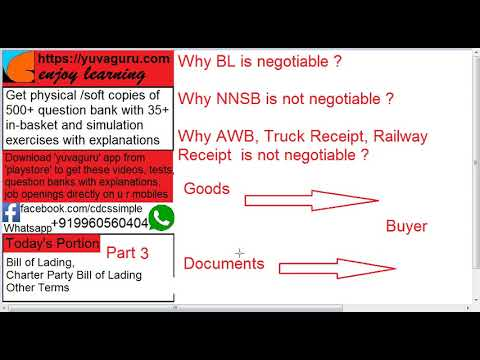 3 CDCS videos Bill of Lading Charter Party Owner Charterer Master Agent by Vishal Mantri919960560404