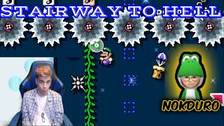 0.00% NIVEL DE NOKDURO: STAIRWAY TO HELL | Super Mario maker 2