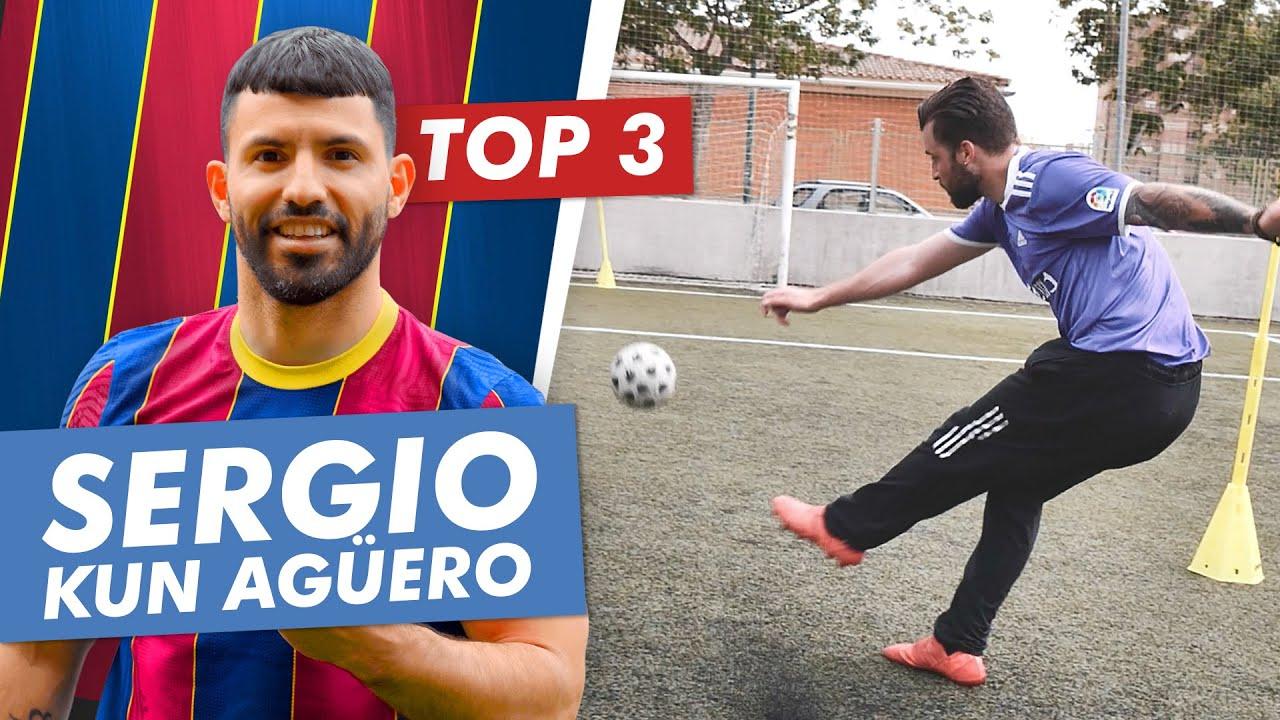 🔝TOP 3 TRUCOS de KUN AGÜERO 🔴 FC BARCELONA 🔵 QUE DEBES APRENDER en FUTBOL!