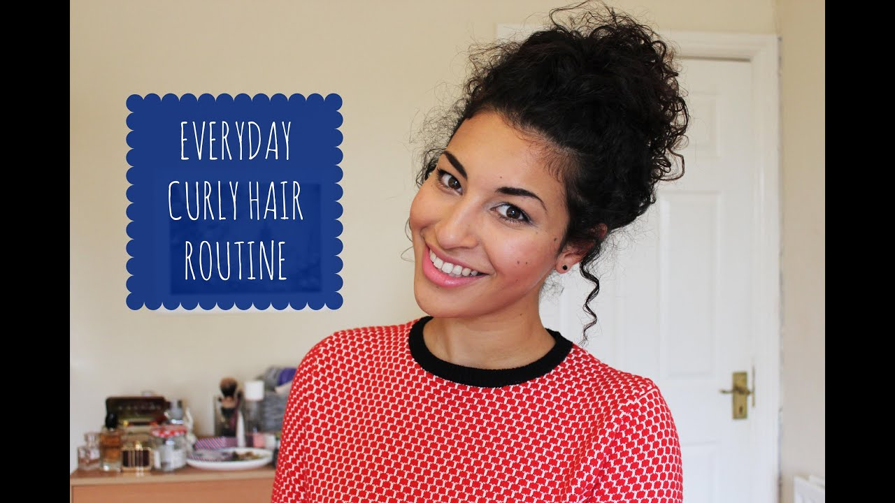 everyday curly hair routine