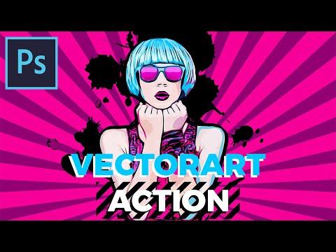 VectorArt Photo Effect Photoshop Action Tutorial thumbnail