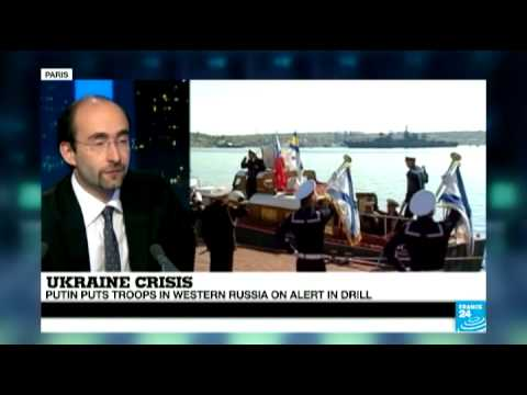 Ukraine: Putin puts troops in western Russia on alert in drill