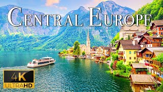 FLYING OVER CENTRAL EUROPE (4K UHD)  Relaxing Music With Beautiful Nature Video (4K Video Ultra HD)
