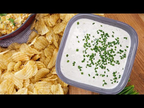 Delicious Dips: Grilled Sour Cream And Scallion Dip | Rachael Ray Show