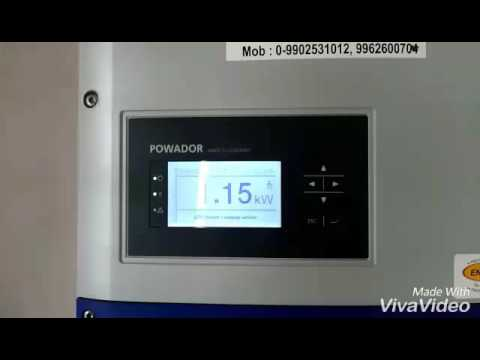 Starting Solar grid tie inverter and precautions