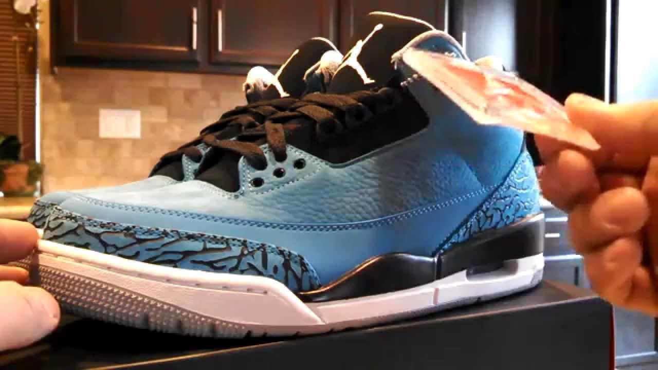 new styles 9575c 9beea Nike Air Jordan 3 Retro Powder Blue - Smurfs