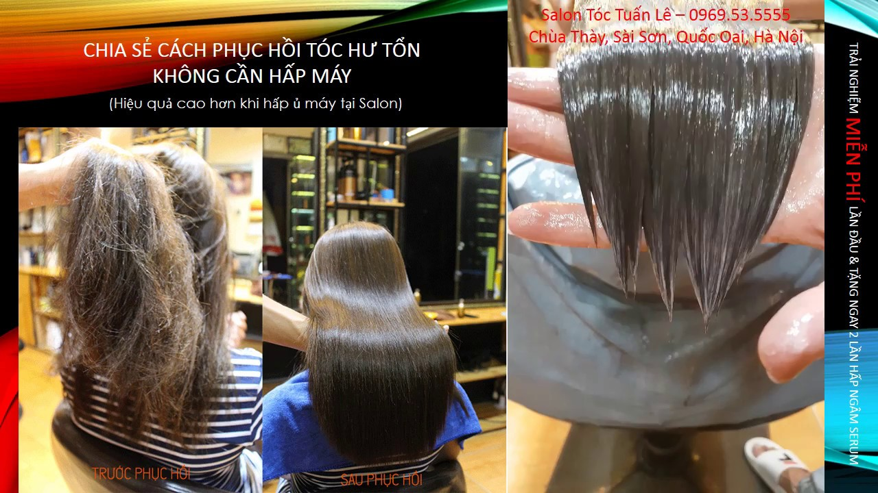 Phục hồi tóc khô, xơ, chẻ ngọn