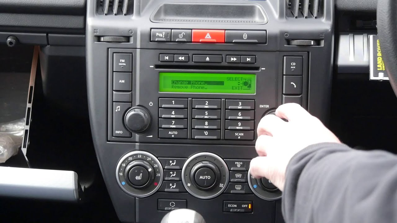 land rover radio wiring how to debond or unpair a phone from the bluetooth system  how to debond or unpair a phone from the bluetooth system