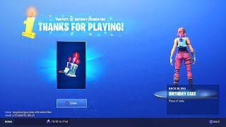 """How To UNLOCK """"Birthday Cake"""" Backbling in Fortnite! How to fix birthday challenges not showing up"""
