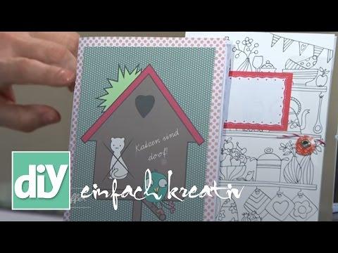 Notizbuch aus recycelten Weihnachtskarten I DIY einfach kreativ