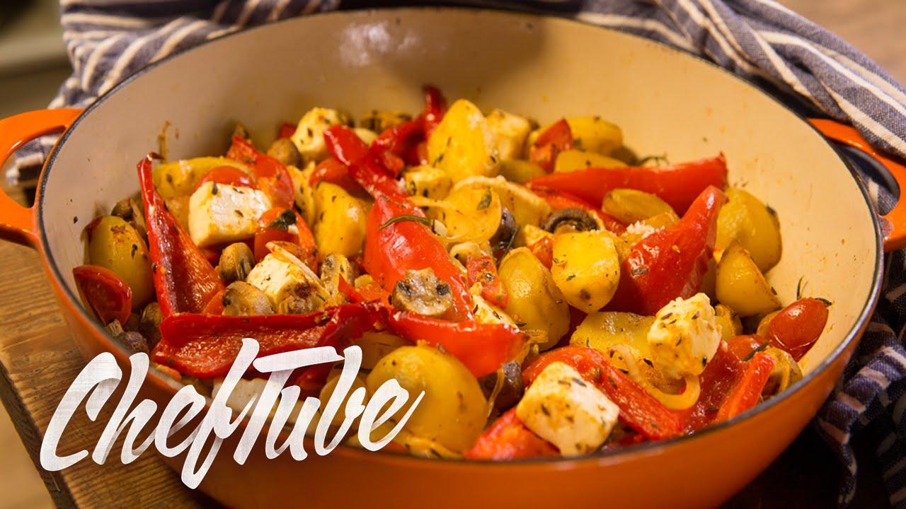 Como Cocinar Verduras Asadas Mediterraneas   Receta En La Descripción
