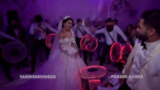 Groom surprises bride !! AWESOME WEDDING ENTRANCE with 16 DRUMMERS Forsen dabke