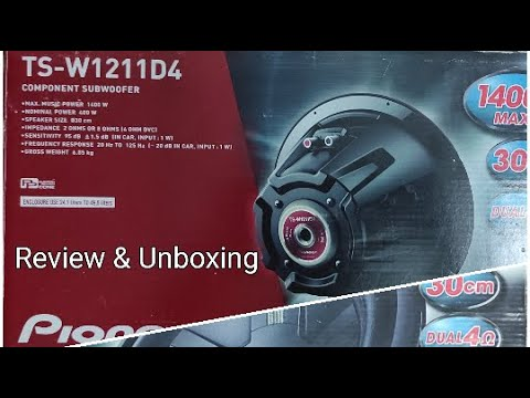Cheap & Best Car Subwoofer | Pioneer Champion TS-W1211D4 Subwoofer Unboxing Review | Hindi