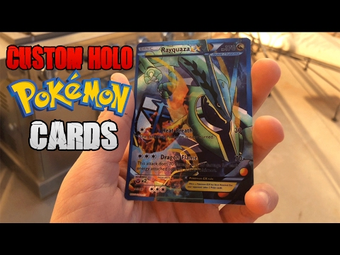 How to Make AWESOME CUSTOM POKEMON CARDS!! Tutorial!!