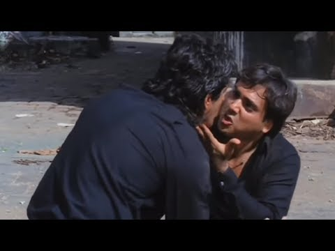 Govinda, Chunky Pandey, Raj Babbar, Aankhen - Bollywood Movie Scene 9/13