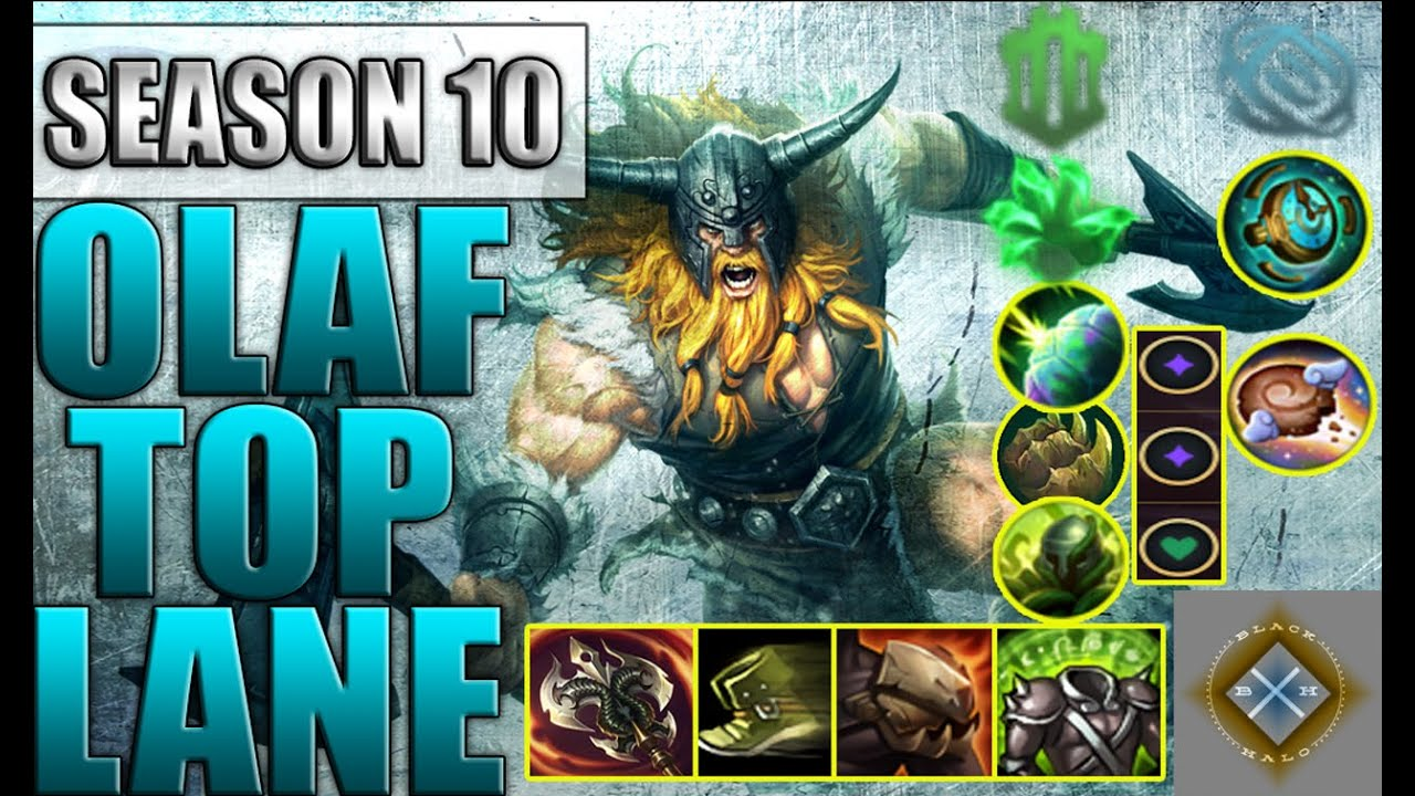 Olaf Build Guide 10 20 Olaf Top Jungle Guide Season 10 Savage Youtube Ed League Of Legends Strategy Builds
