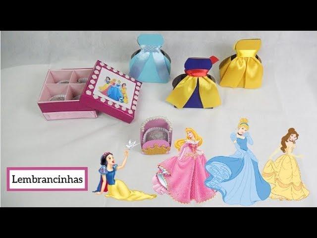 DIY: lembrancinhas para festa (princesas da Disney) com materiais recicláveis. Por Pricity