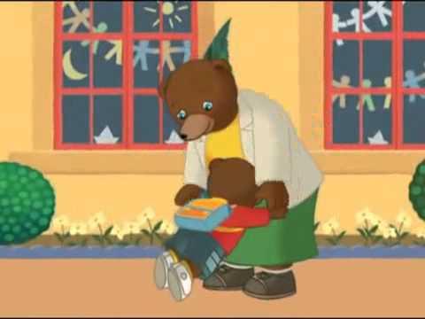 Petit ours brun en francais dessin anim petit ours brun - Petit ours brun va al ecole ...
