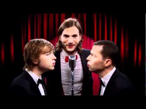 Abertura Two and a half Men com Ashton Kutcher