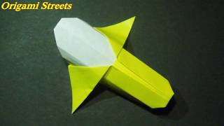 оригами банан  Как сделать банан из бумаги
