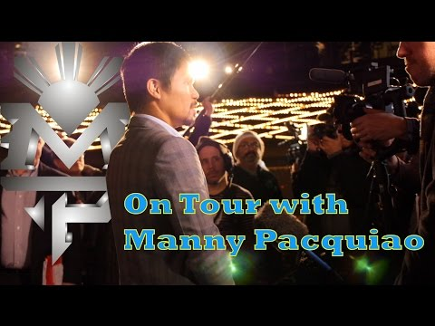 Manny Pacquiao United States Press Tour PacBradley3