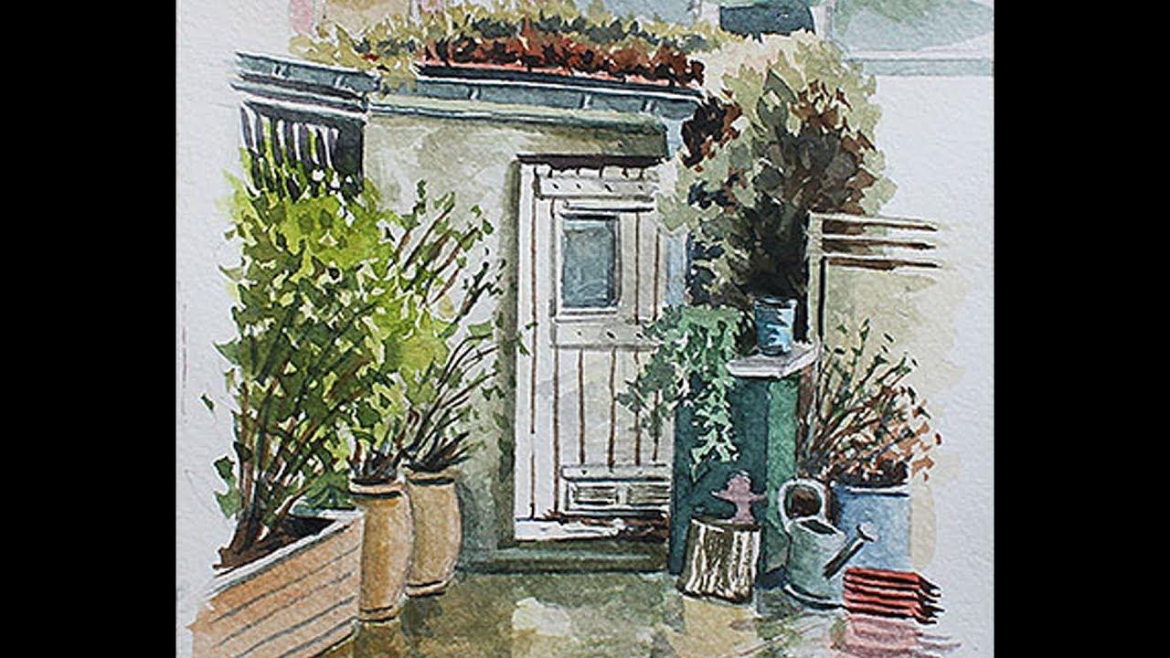 Extrêmement Cours de peinture aquarelle gratuit - Denis Gille - YouTube RX41