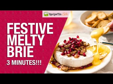 3 Minute Festive Melty Brie (Speedy Baked Brie)