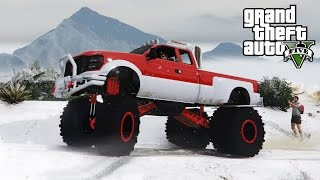 MONSTER SANDKING DUALLY SNOWY OFF-ROADING! 4x4 Hill Climbing & Mudding (GTA 5 PC Mods)