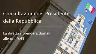 Quirinale, Consultazioni del Presidente della Repubblica 21/08/2019