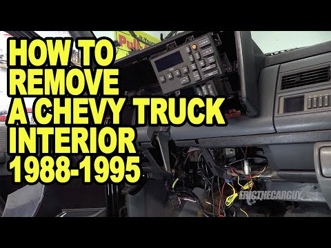 How To Remove A Chevy Truck Interior 1988-1995 #ETCGDadsTruck
