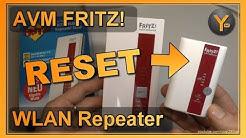 FRITZ! WLAN Repeater zurücksetzen / Werkseinstellungen laden (Alle Modelle)