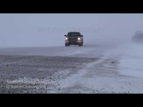 Grand Forks, ND Area Icy Roads And Car Wrecks - 12/25/2016