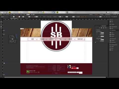 Adobe Muse Sliding Menu (top) | Tutorial | German/Deutsch | [HD]