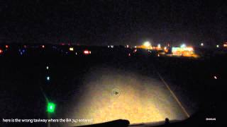 A340-300 Night taxi in Johannesburg (BA 747 Incident Dec 23, 2013)