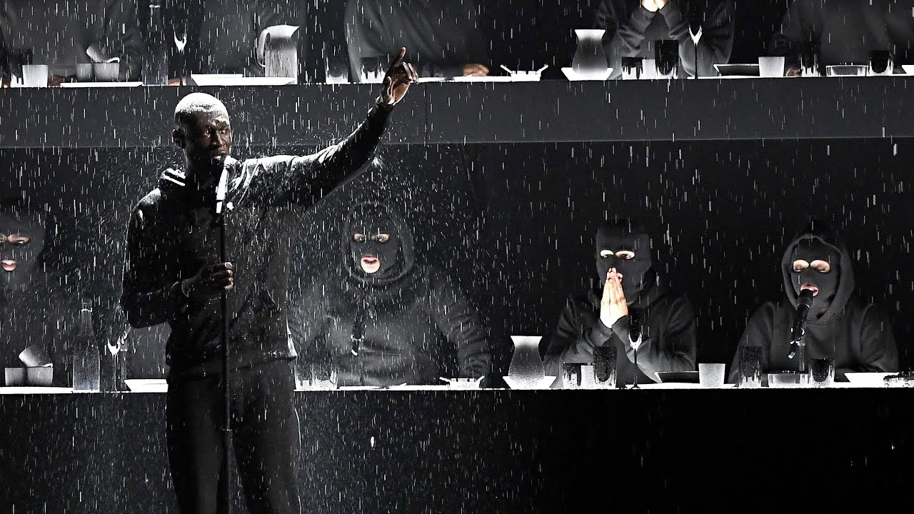 Stormzy at the Brit Awards: 'Yo, Theresa May, where's the money for Grenfell?'