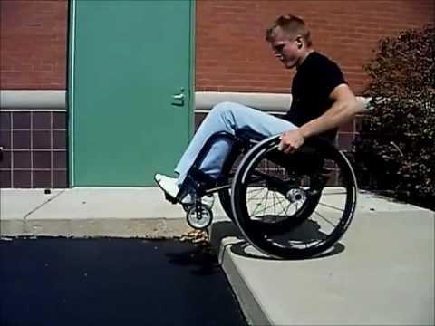 Off Road Wheelchair >> Quadriplegic Up & Down Curbs in a Wheelchair - YouTube